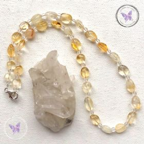 Citrine & Clear Quartz Necklace